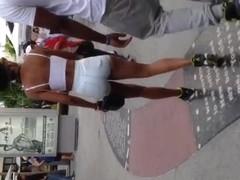 Big booty light skin black girl