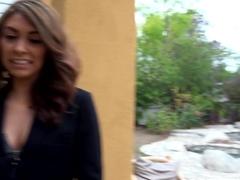 Bad Real Estate Agent Kara Faux Fucks Outdoors