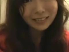 Asian girl tapes herself masturbating on a public toilet upskirt
