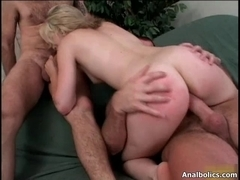 Naughty blond floozy rides an hard penis