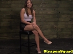 Asian bondage slut exploited by two dominas