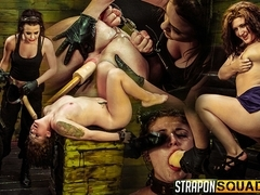 Pain Sex Slave Aryah May is Used & Wrecked by Mila Blaze & Brooklyn Daniels