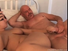 Cute corpulent playgirl enjoys a hard fuck and a sticky facial