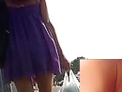 Violet summer costume upskirt movie