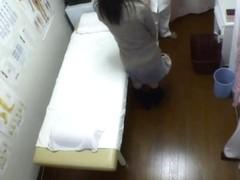 Hidden spy cam massage brings girl to orgasm