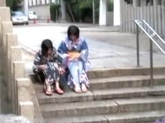 Asian cuties got Boob Sharked on a hot summers day.