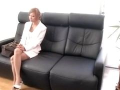 Leggy blonde Jap dicked in spy cam Japanese sex video