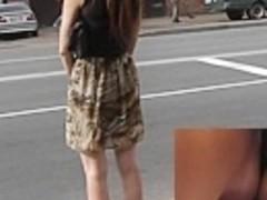 Hawt candid upskirt in the street