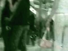 Hot candid voyeur video of a smoking denim covered ass
