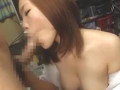 Horny Japanese slut in Fabulous Handjobs, Blowjob/Fera JAV movie