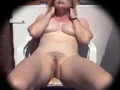 51 year old wife masturbates on the balcony