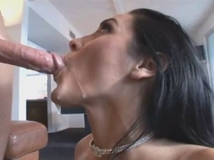 Beautiful trimmed pussy and hot mouth of Veronica Rayne