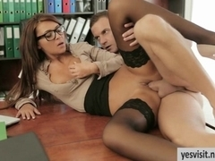 Gorgeous Alexis Brill banged in office