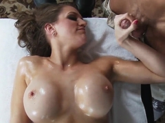 Alluring Eve Laurence making a tittie massage for Johnny