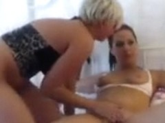 My lesbian cunt drilled with a toy