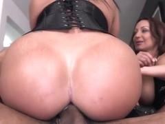 Two Horny Latina Beauties Vs Euro Cock