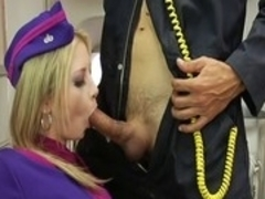 Horny pornstars Lexi Love and Misty Stone in crazy facial, threesome sex scene
