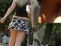 Bouncing petticoat up video