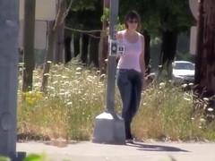 Girl on corner