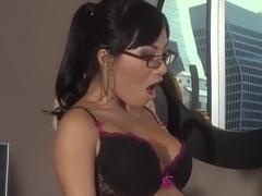 Horny pornstars Asa Akira and Kirsten Price in crazy asian, brunette sex clip