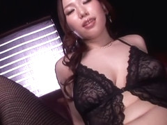 Fabulous Japanese chick Ai Sayama in Incredible big tits, stockings JAV video