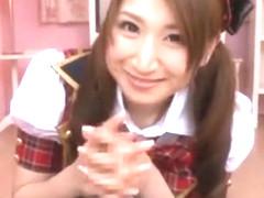 Hottest Japanese whore YUI 2 in Fabulous Handjobs JAV video