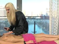 Fabulous pornstars Trinity St. Clair, Leya Falcon in Best HD, Lesbian sex movie