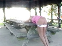 Sissy Spouse whipped at Public Park