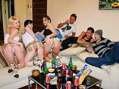 Terrific college sex party