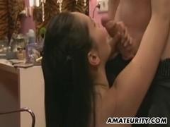 Amateur girlfriend anal fuck with facial shot