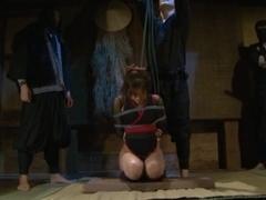 Yuna Mizumoto and Io Asuka Ninja torture Cosplay