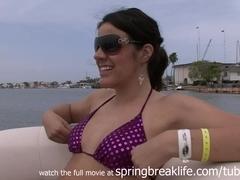SpringBreakLife Video: 4 Girls On A Boat