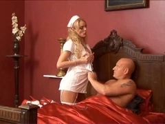 British blond whore acquires drilled looking after a poorly fella