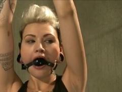 kinky girl tied and vibed