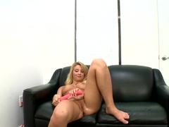 Amateur blonde Lexi Kartel has arousing interview