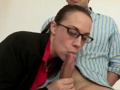 Sexy chicks Brooklyn Lee and Chanel Preston are sucking Giovanni and Steve Holmes's dicks a.