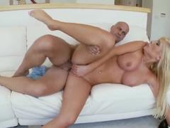 Busty blonde Tasha Reign gets banged hard