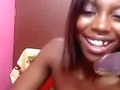 EbonyGF of mine receives all in nature's garb in her room and plays with her fur pie