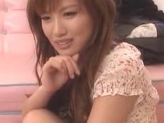 Best Japanese girl Rio Fujisaki in Amazing Threesomes, Dildos/Toys JAV movie