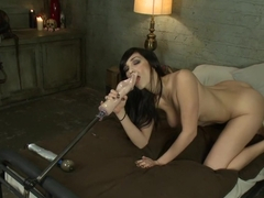 Exotic fetish adult video with incredible pornstar Holly Michaels from Fuckingmachines
