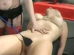 Mature bitch gets spanked hardcore style by a younger guy