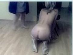 Lesbians enjoy BDSM in front of the webcam
