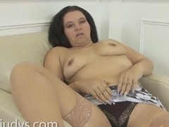 Louise Bassett Pleasures Her Mature Pussy