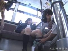 Japanese AV model teen schoolgirl gets fucked publicly video