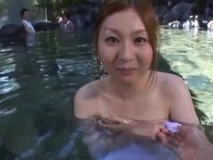 Yui Tatsumi Asian babe has sex outdoors