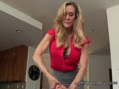 Mom And Stepdaughter Give Handjob To Young Guy