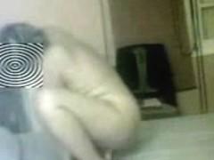 Hidden cam in bedroom of milf !