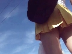 Upskirt shot of hot women in short skirts