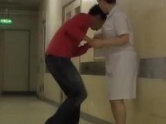 Kinky sharking fun for lewd man and shy medical nurse