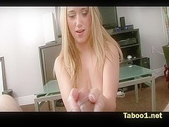 Shelby Paige blackmails stepdad for wang